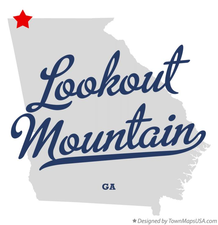 Map of Lookout Mountain Georgia GA