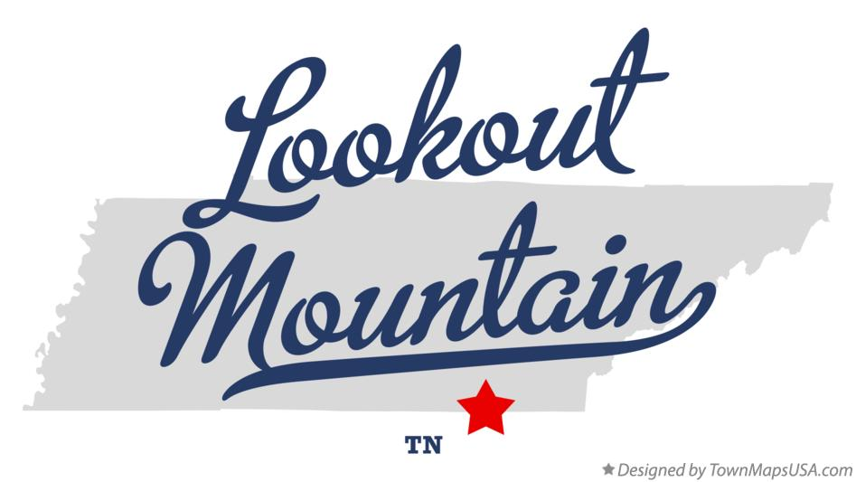 Map of Lookout Mountain Tennessee TN