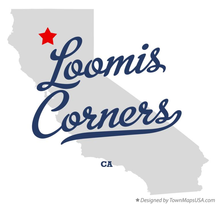 Map of Loomis Corners California CA