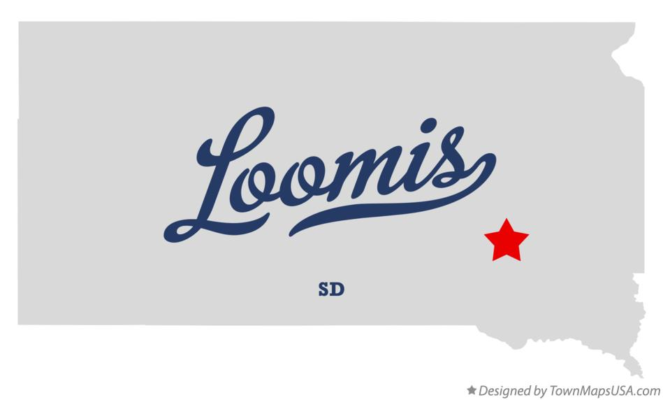 Map of Loomis South Dakota SD