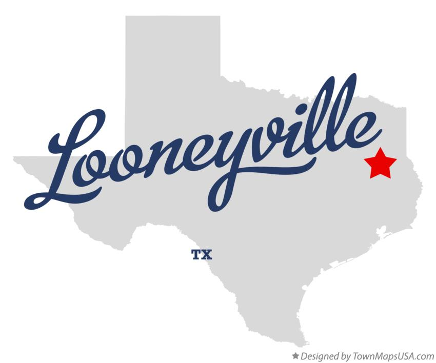 Map of Looneyville Texas TX