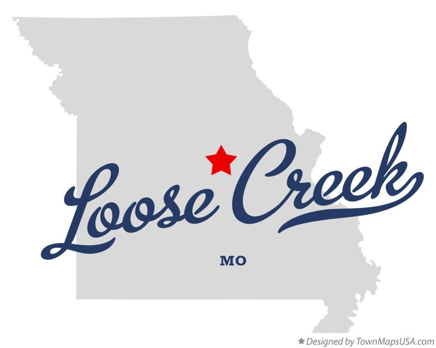 Map of Loose Creek Missouri MO
