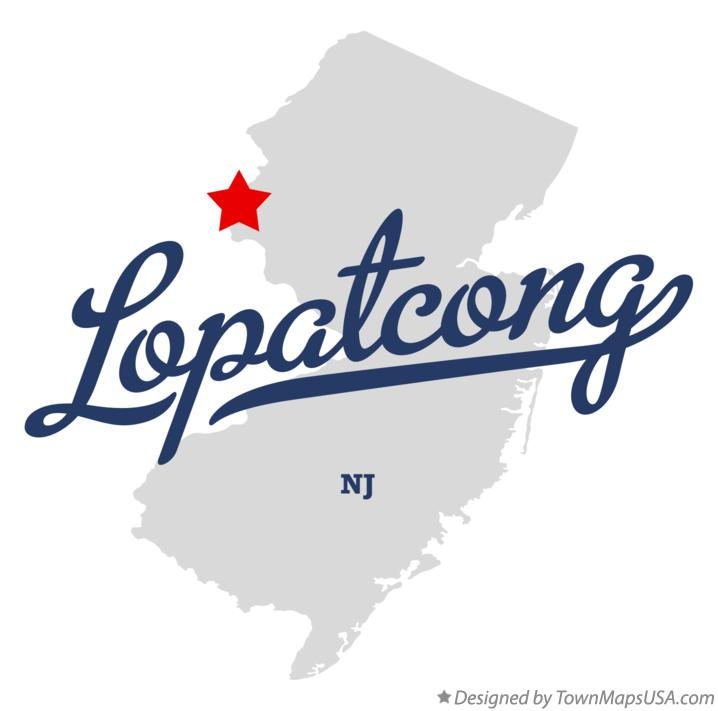 Map of Lopatcong New Jersey NJ