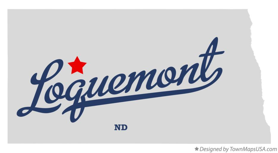 Map of Loquemont North Dakota ND