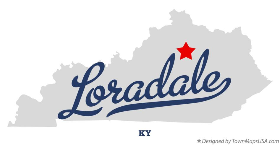 Map of Loradale Kentucky KY