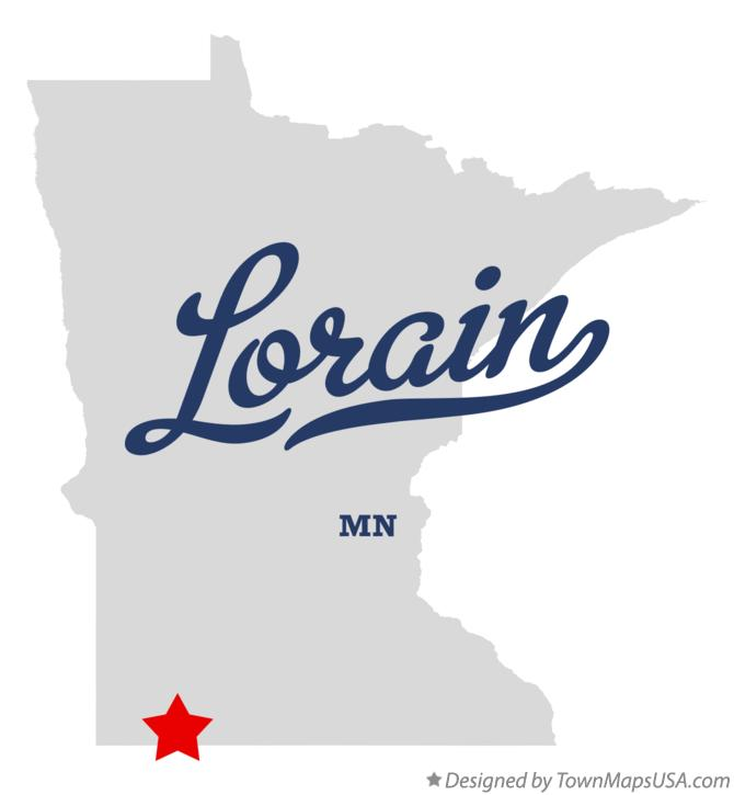 Map of Lorain Minnesota MN