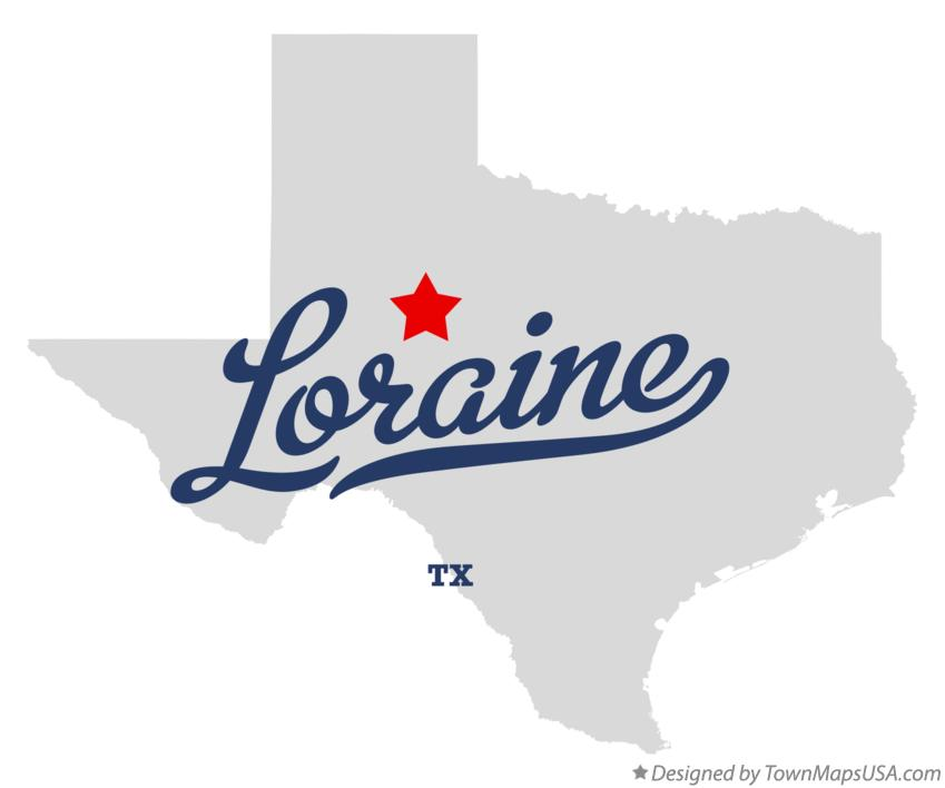 Map of Loraine Texas TX