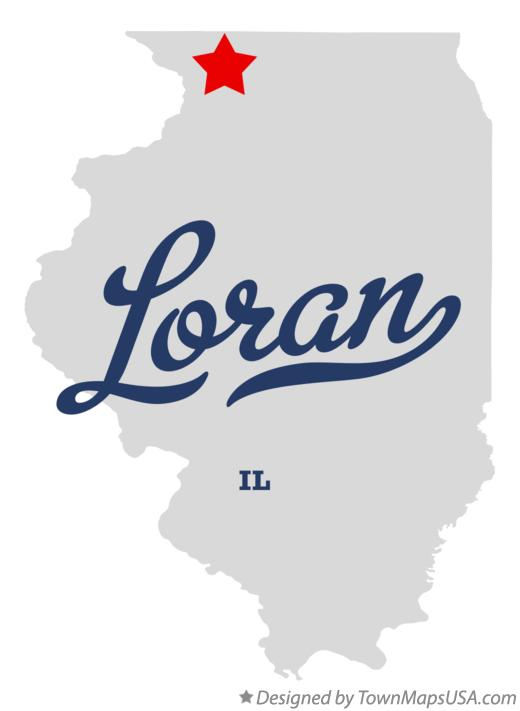 Map of Loran Illinois IL