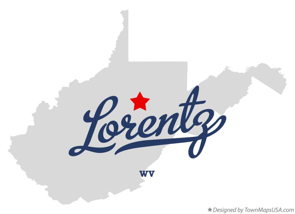 Map of Lorentz West Virginia WV