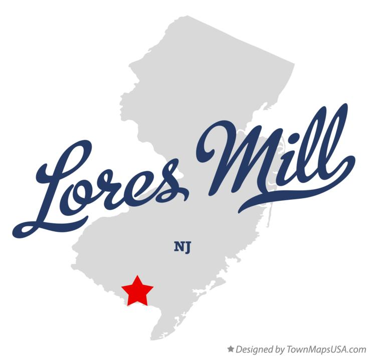 Map of Lores Mill New Jersey NJ