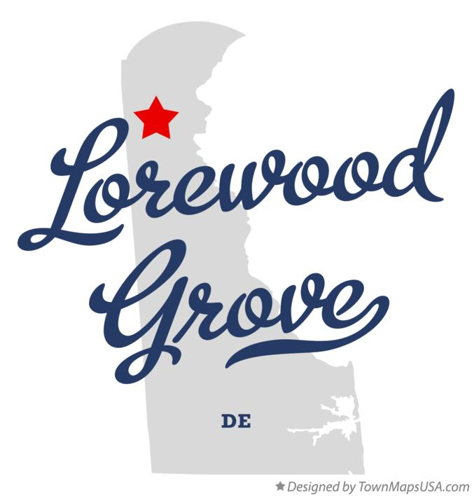 Map of Lorewood Grove Delaware DE