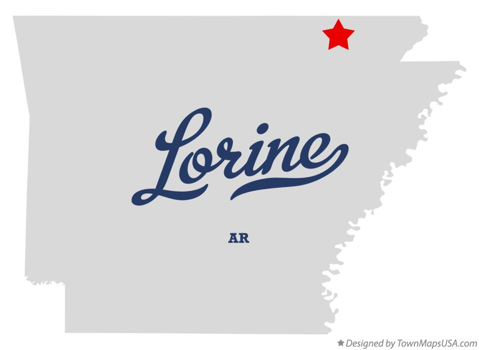 Map of Lorine Arkansas AR