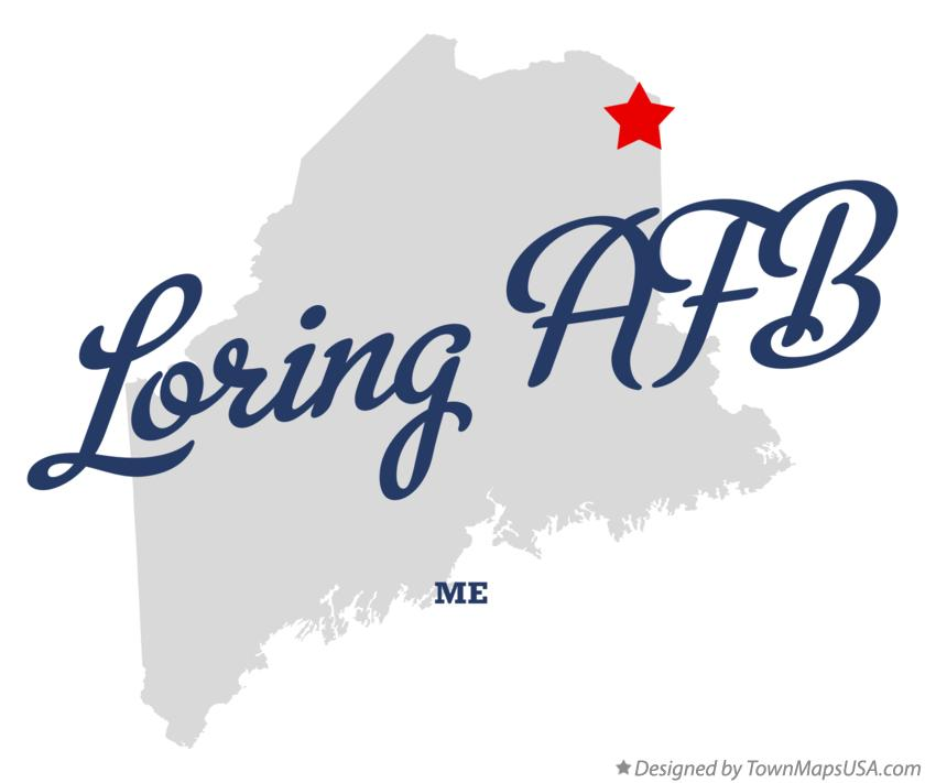 Map of Loring AFB Maine ME