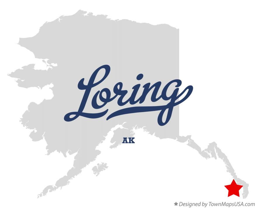 Map of Loring Alaska AK