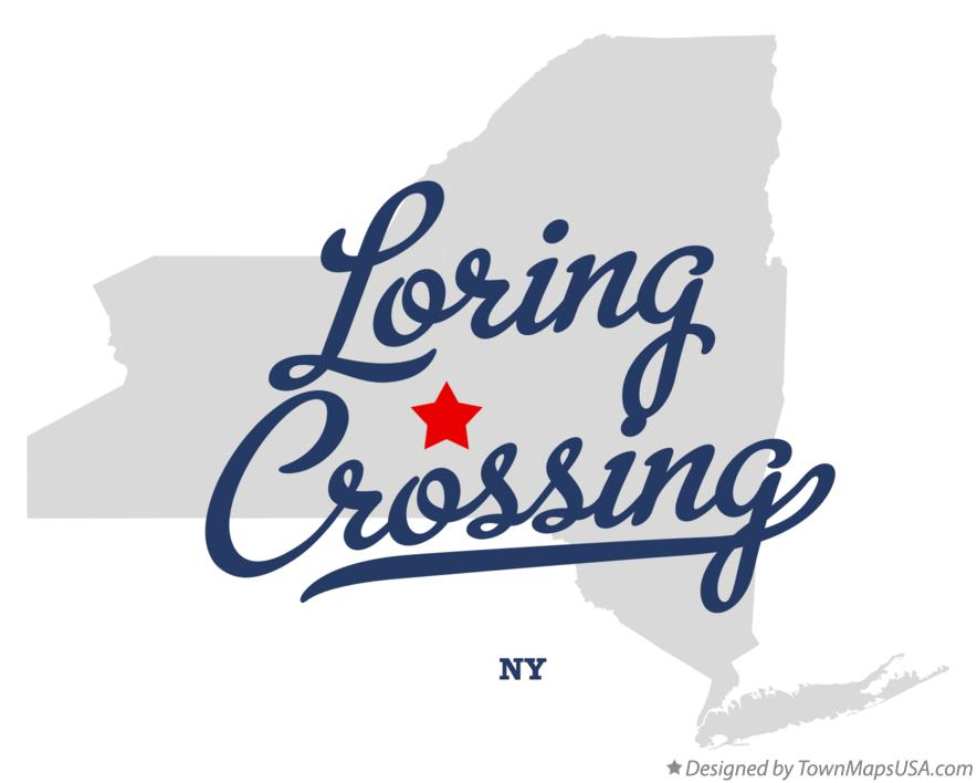 Map of Loring Crossing New York NY