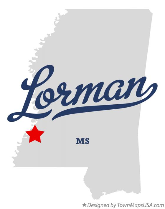 Map of Lorman Mississippi MS