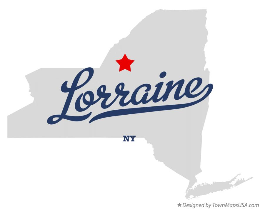 Map of Lorraine New York NY