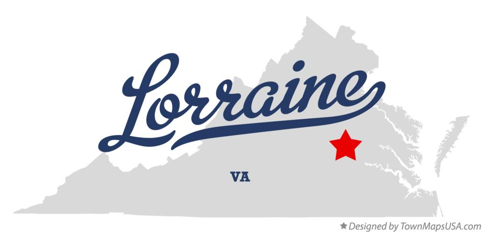 Map of Lorraine Virginia VA