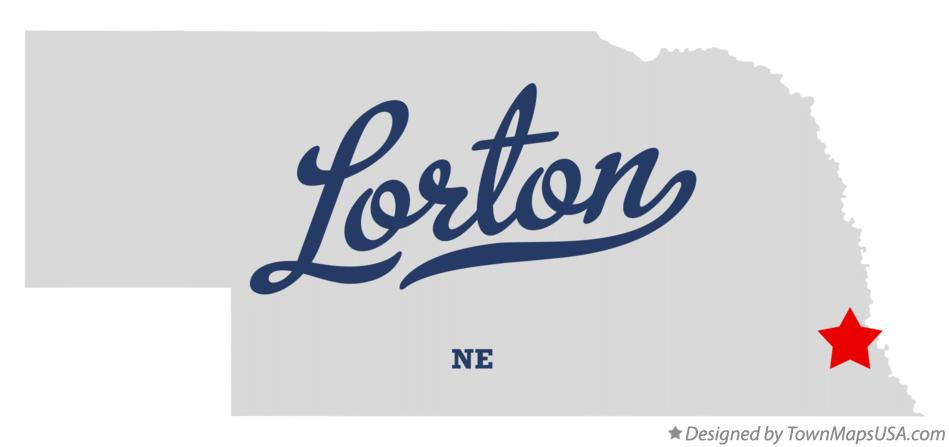 Map of Lorton Nebraska NE