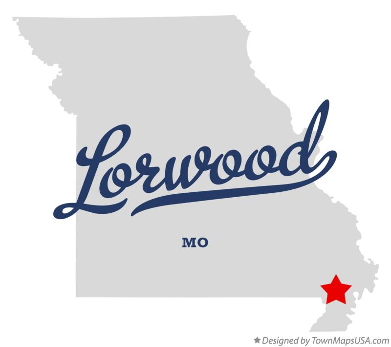 Map of Lorwood Missouri MO
