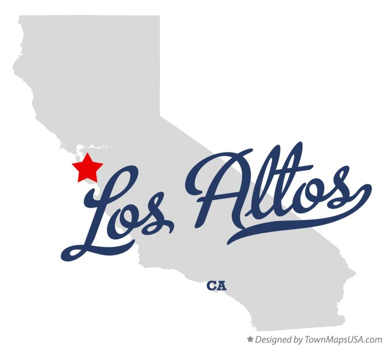 Map of Los Altos California CA