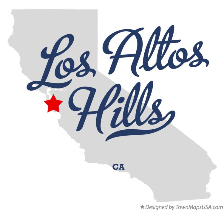 Map of Los Altos Hills California CA