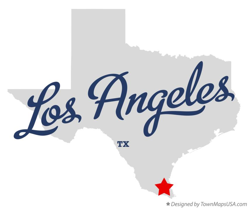 Map of Los Angeles Texas TX