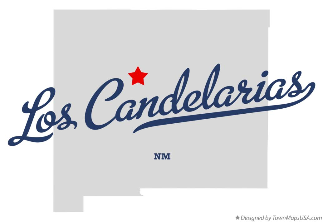 Map of Los Candelarias New Mexico NM
