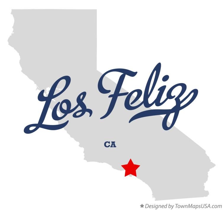 Map of Los Feliz California CA