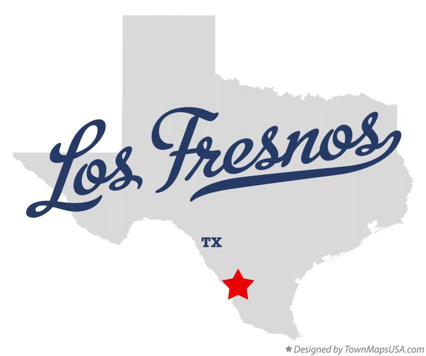Map of Los Fresnos Texas TX