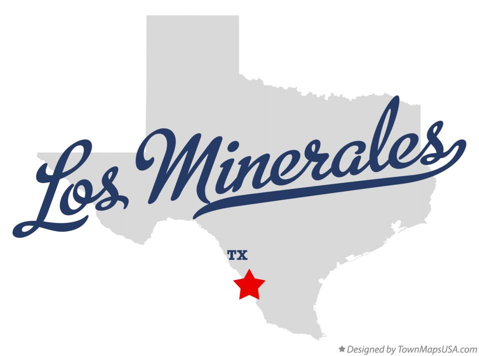 Map of Los Minerales Texas TX