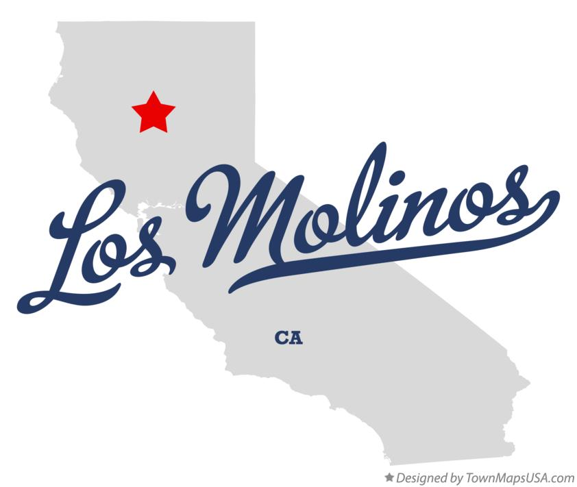 Map of Los Molinos California CA