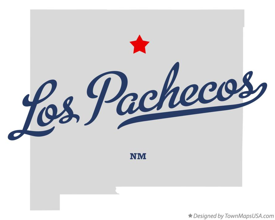 Map of Los Pachecos New Mexico NM