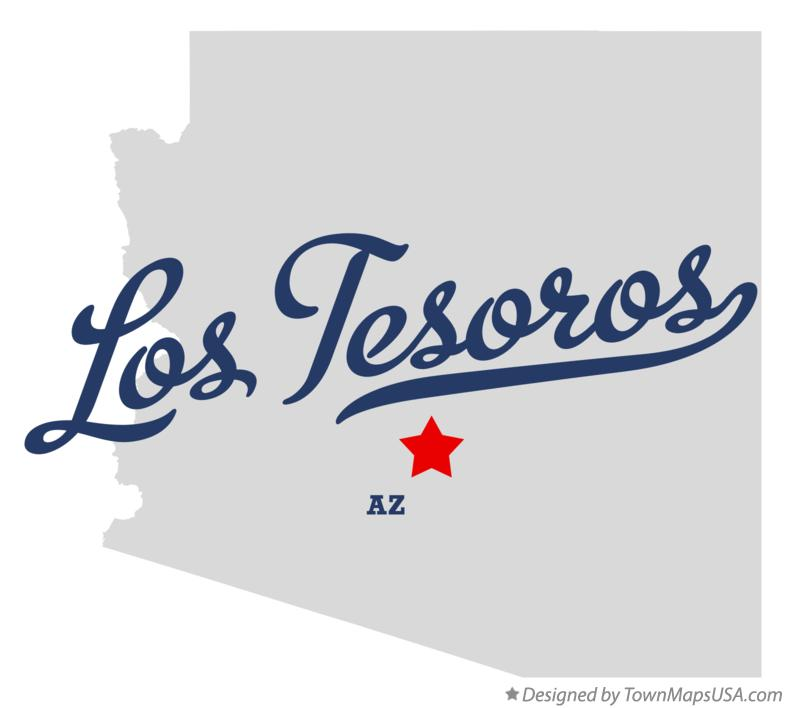 Map of Los Tesoros Arizona AZ