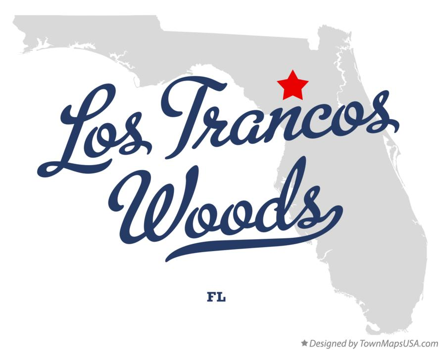 Map of Los Trancos Woods Florida FL