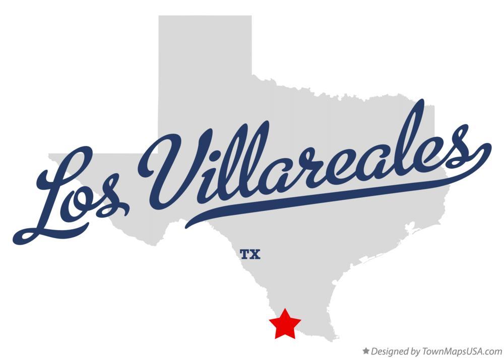 Map of Los Villareales Texas TX