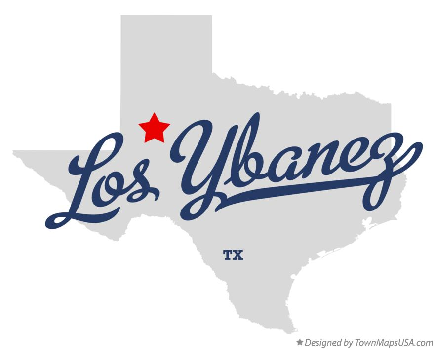 Map of Los Ybanez Texas TX