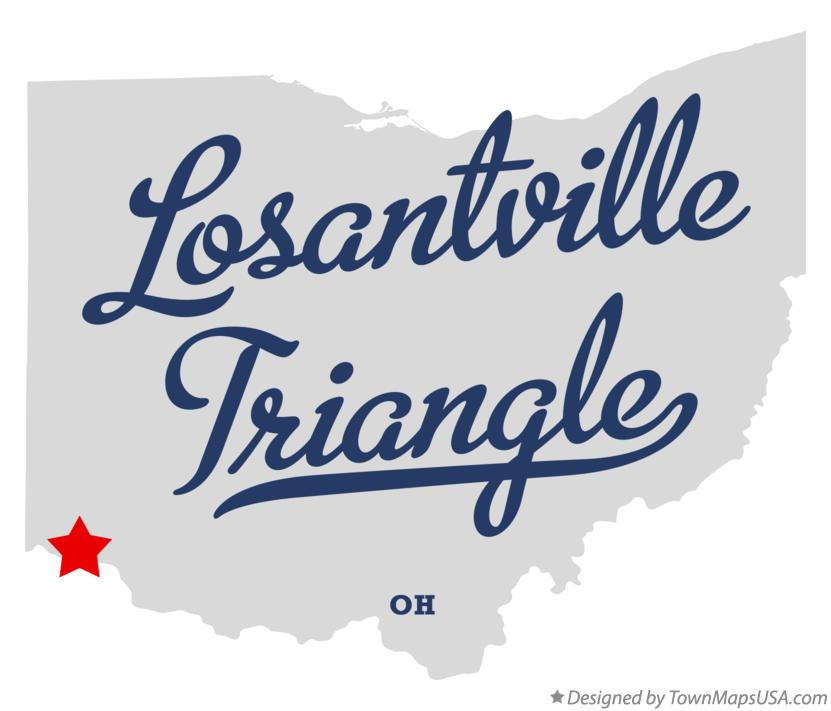 Map of Losantville Triangle Ohio OH