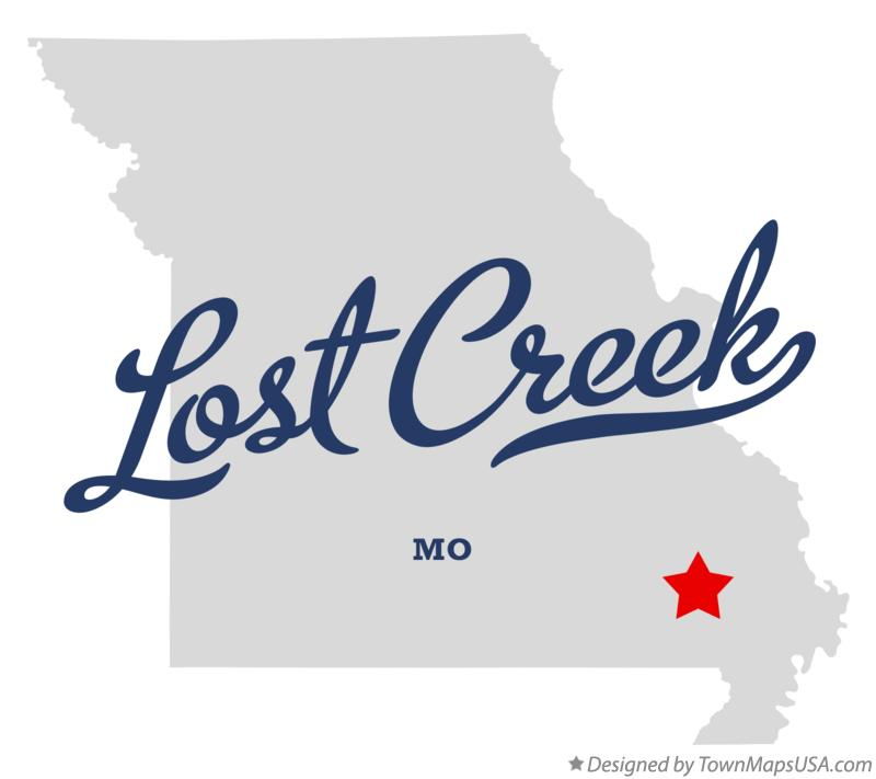 Map of Lost Creek Missouri MO
