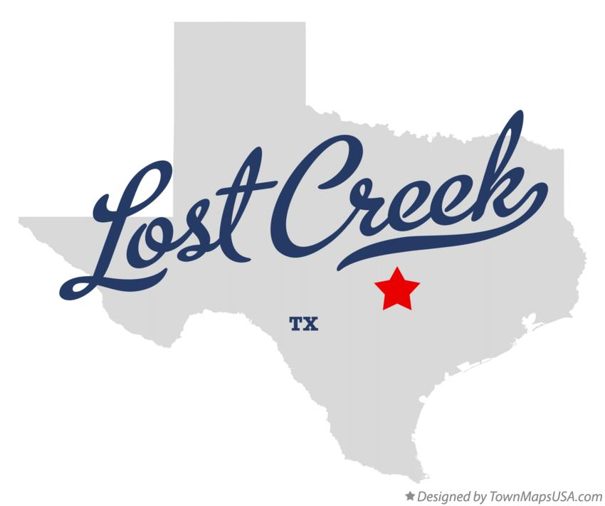 Map of Lost Creek Texas TX