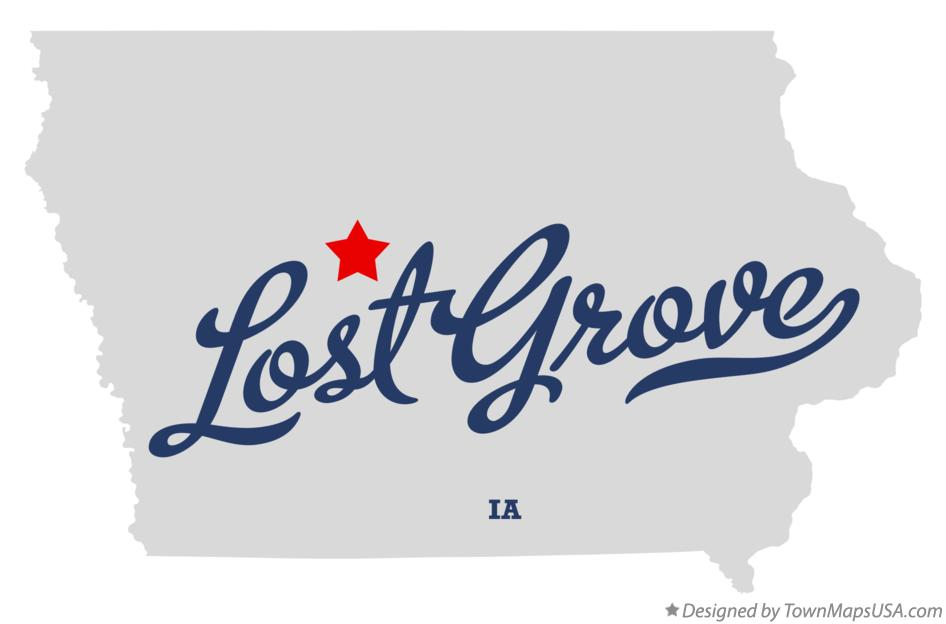 Map of Lost Grove Iowa IA