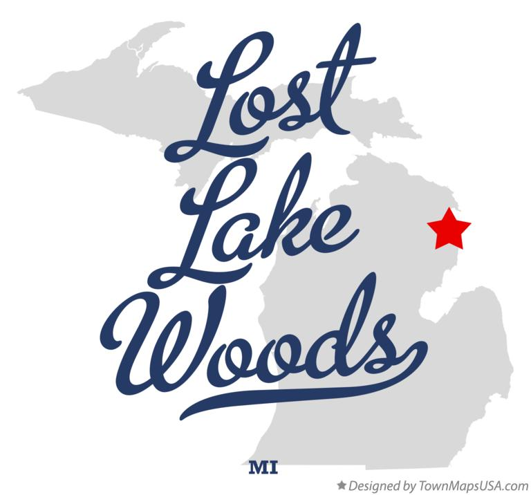 Map of Lost Lake Woods Michigan MI