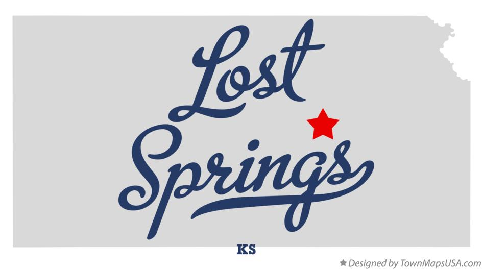 Map of Lost Springs Kansas KS
