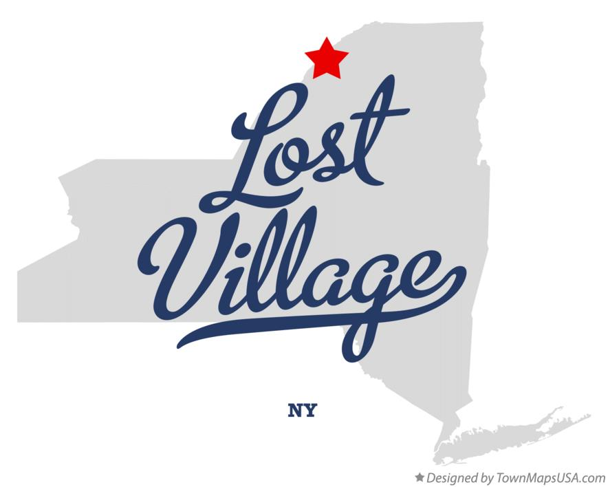 Map of Lost Village New York NY