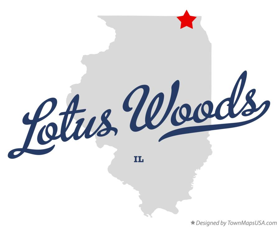 Map of Lotus Woods Illinois IL