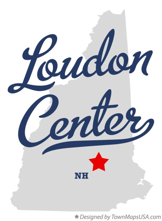 Map of Loudon Center New Hampshire NH