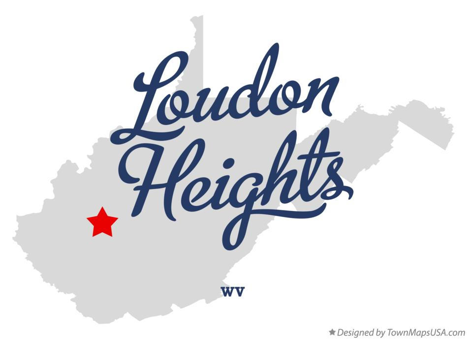 Map of Loudon Heights West Virginia WV