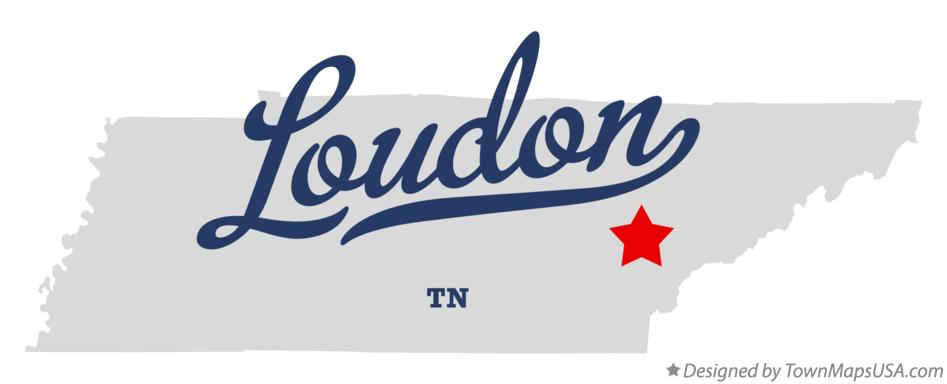 Map of Loudon Tennessee TN