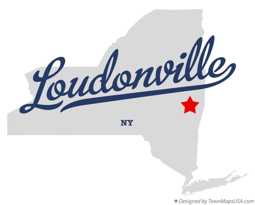 Map of Loudonville New York NY