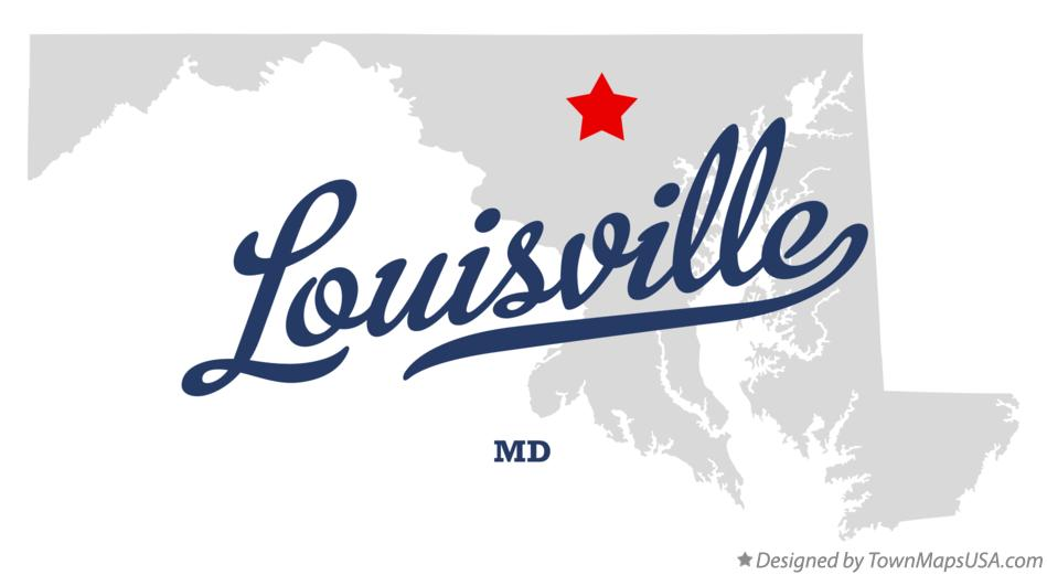 Map of Louisville Maryland MD